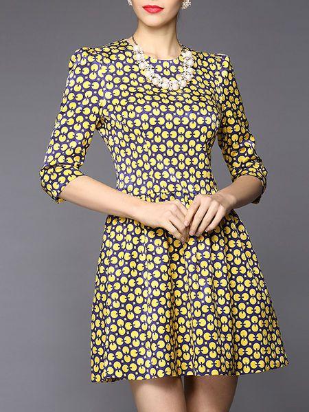 Printed Dyed Mini Dress