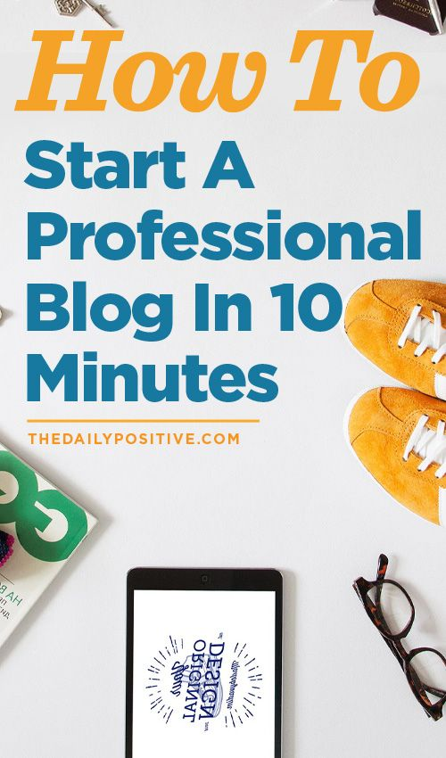 If you want to start a blog, this is the best way to do it!