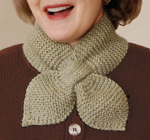 Lotus Leaf Scarf to Knit - via @Craftsy