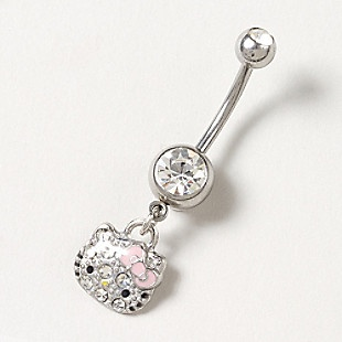 Hello Kitty Pink Bow Belly Ring Claires Lovelyss Pinterest