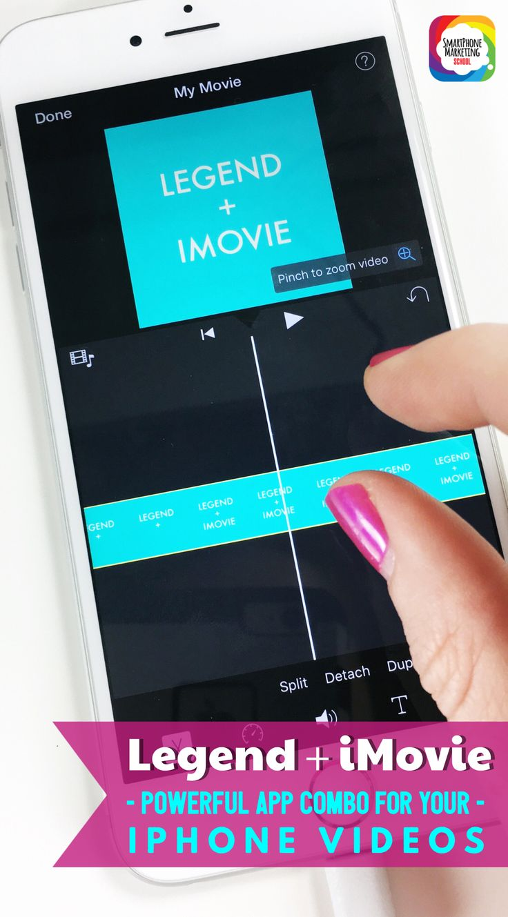 LEGEND + IMOVIE – Powerful app combo for your iPhone movie projects! Use the Legend app to animate your products or message and insert into iMovie. Learn how in this post by the Smartphone Marketing School.