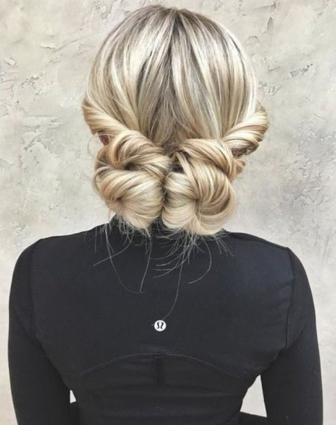 twisted pigtail buns