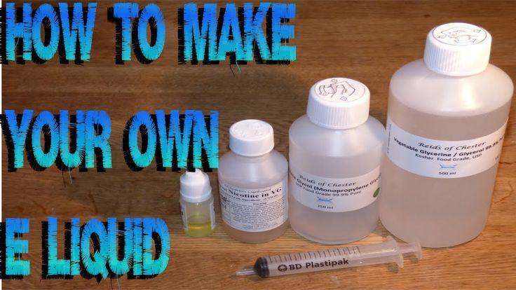 How To Mix & Make Your Own E Juice Liquid