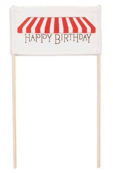 Tin Parade 'Happy Birthday - Red Sweets' Canvas Cake Banner available at #Nordstrom