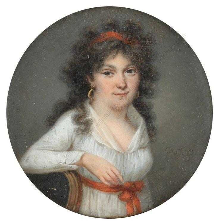 "Graff (fl. 1795/1800) ""Portrait of a young woman"", 1790s"