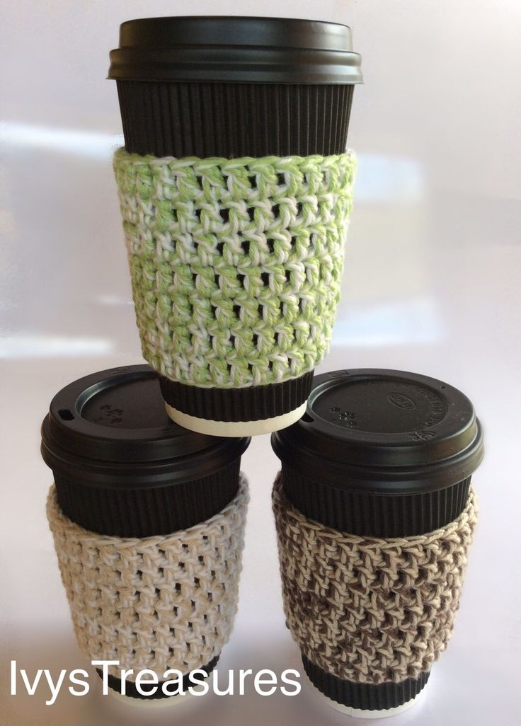 A personal favorite from my Etsy shop https://www.etsy.com/au/listing/241619399/pattern-pdf-crochet-coffee-mug-cozy