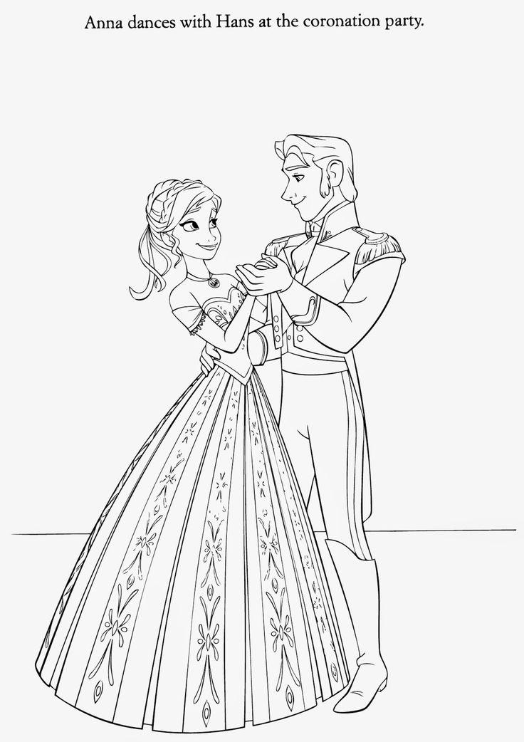 hm coloring pages frozen coronation - photo#11