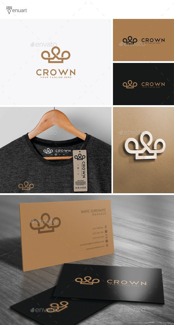 Crown Logo Template PSD, Vector EPS, AI. Download here: http://graphicriver.net/item/crown-logo/11783965?ref=ksioks