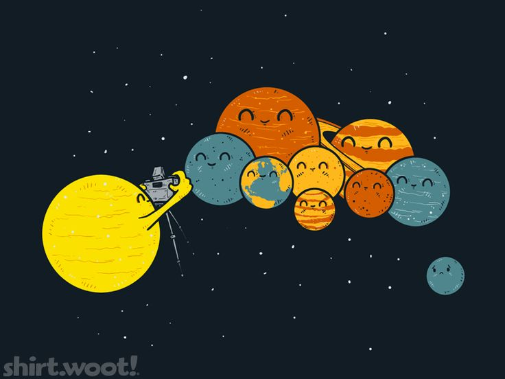 """Titled: Family Portrait  ...... poor Pluto...""""Way to go, Neil. Way to declassify Pluto as a planet, make all the little kiddies cry! I hope you're happy!"""" -signed Rodney McKay"""
