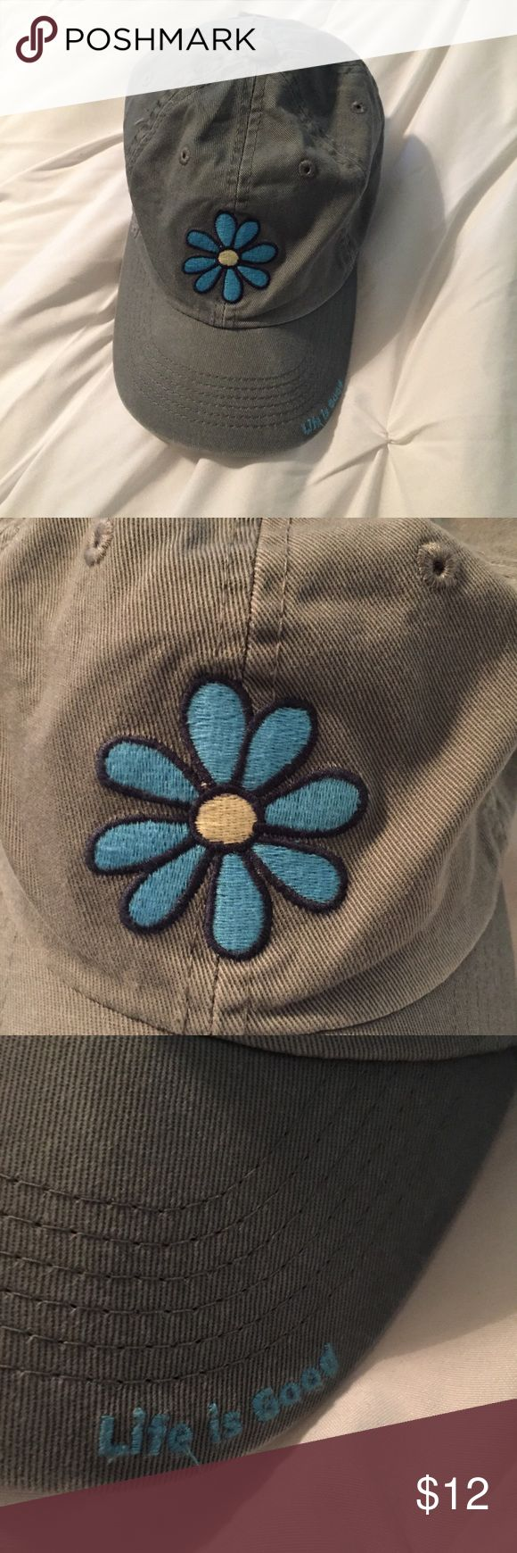 "life is good baseball cap a cute baseball cap from the ""life is good"" brand! great condition, no spots/signs of wear & tear. adjusted by a velcro strap Life Is Good Accessories Hats"