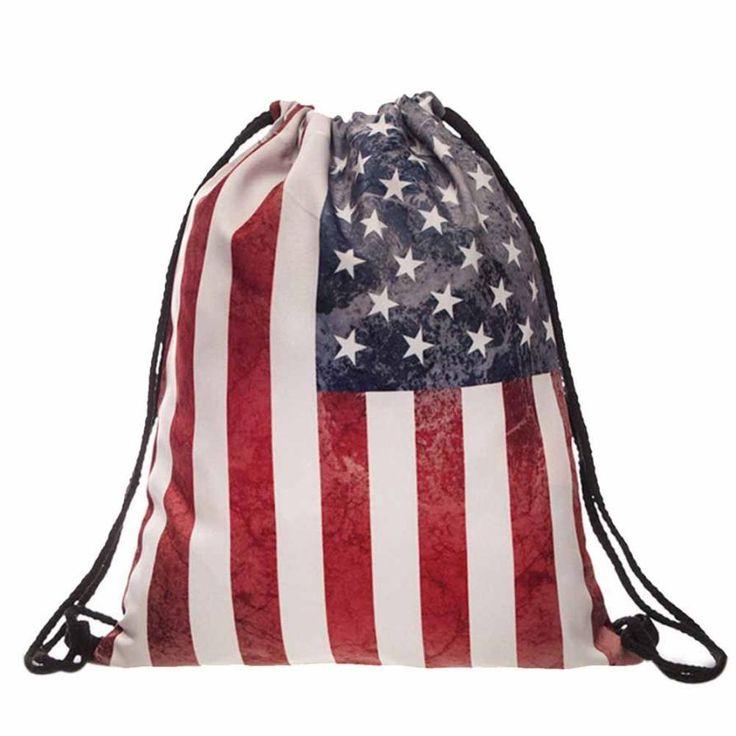 3D Fashion Flag Drawstring Bag //Price: $9.00 & FREE Shipping //     #hashtag1