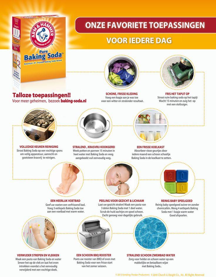 De vele toepassingen van Baking Soda! www.baking-soda.nl