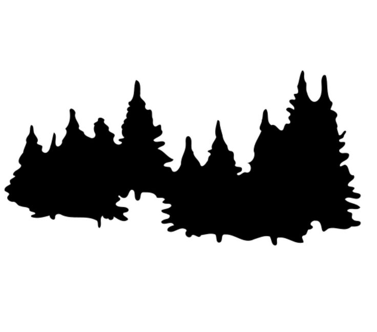 Forest Silhouette Clip Art Forest Silhouette   Clipart