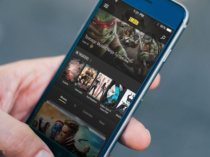 IMDb App Redesign Concept 2014 by Zac Keeler