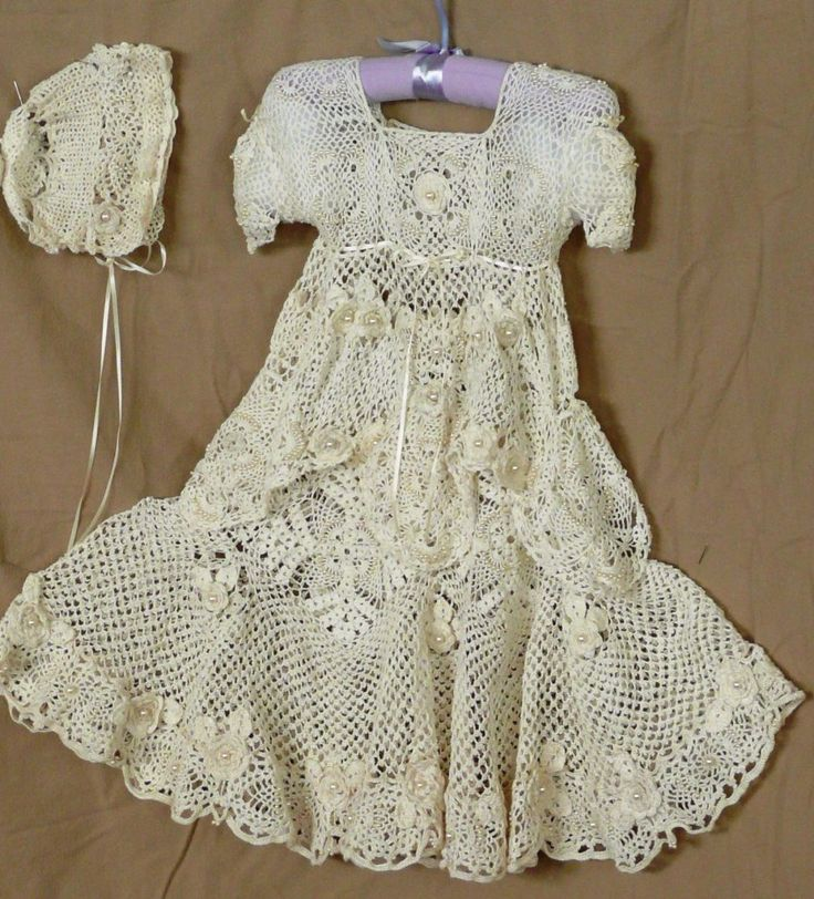 Pineapple Crochet Christening Gown 18 Pineapple Rose