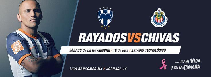 Partido Jornada 17 de la @Liga Bancomer MX #Rayados vs. Chivas el 9 de noviembre a las 19:00hrs en el Estadio Tecnológico. #Futbol #Soccer #Monterrey #Mexico