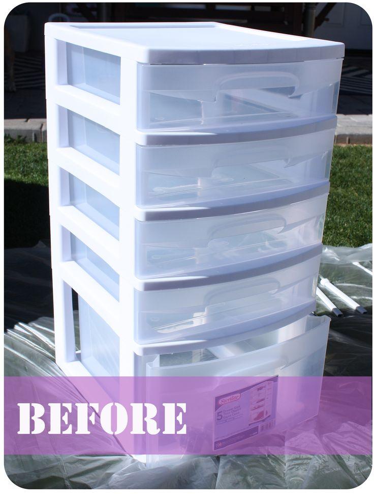 DIY office storage organization before