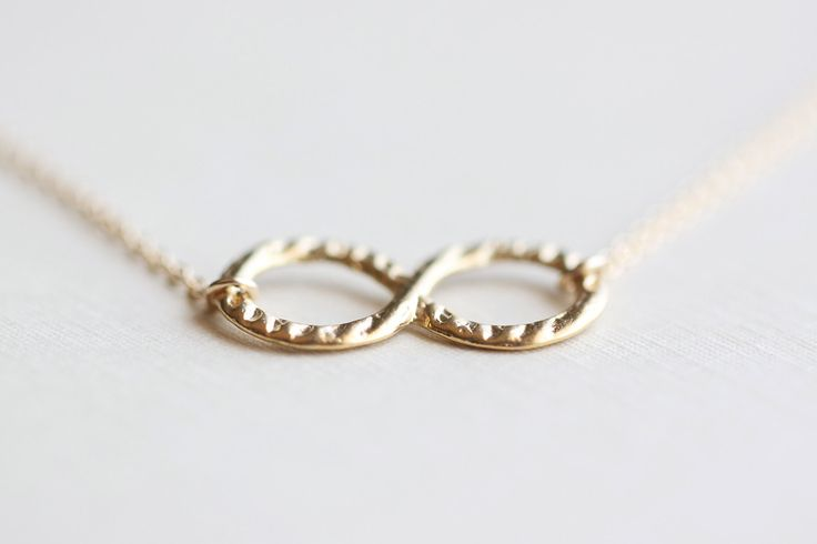 Infinite Love Gold Necklace - small infinity circles on 14k gold fill chain, simple everyday jewelry by petitor. $26.00, via Etsy.