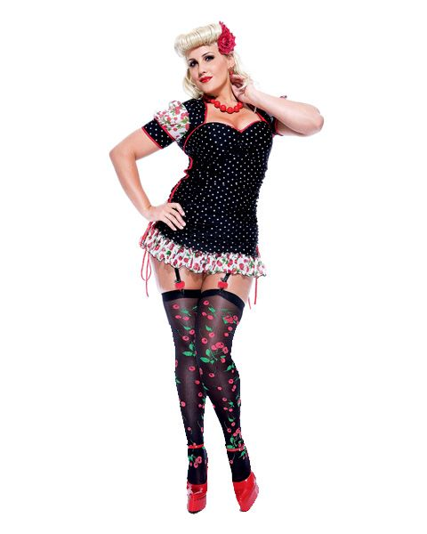 Sexy Pin Up Girl Adult Plus Size Costume   Cheap 50's ...