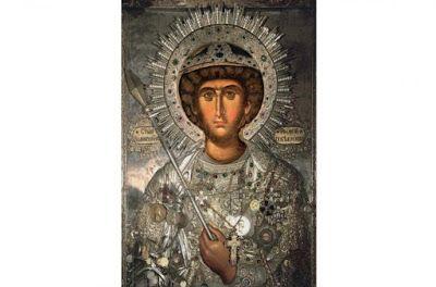 Pictor de Icoane: Sfintul Mare Mucenic Gheorghe - povestea si icoana...