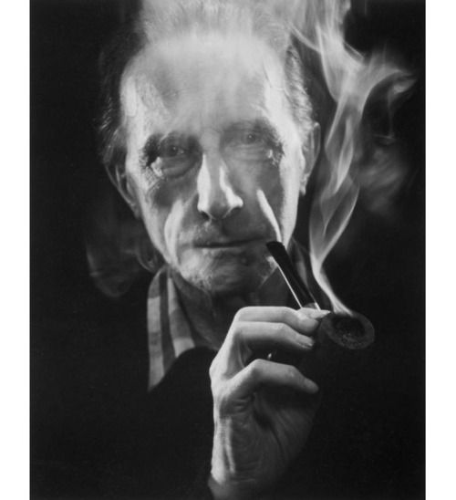 Marcel Duchamp (With Pipe) | John D. Schiff,1957