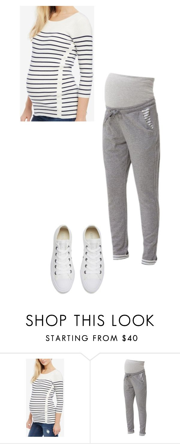 """Untitled #1240"" by stefiilala ❤ liked on Polyvore featuring Motherhood Maternity, Mama.licious and Converse"
