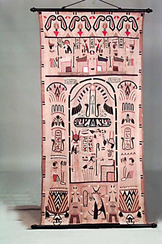 Middle Eastern Egyptian Textile Rugs Wall Hanging