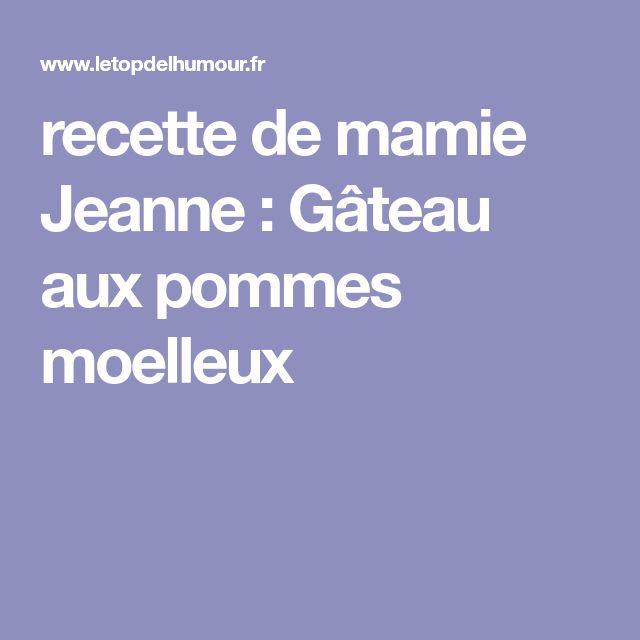 recette de mamie Jeanne : Gâteau aux pommes moelleux