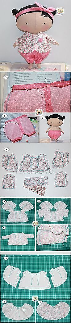 Casa Chervezhonka: coser ropa para Tilda Cutie (continuación) | muñeca de trapo | Узоры Для Одежды, Одежда и Мини