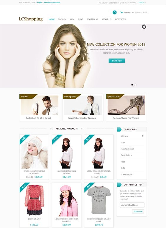 This Bootstrap PrestaShop theme has a responsive layout, over 500 Google Web Fonts, 6 preset color variations, a mega menu, an image slider, Cloud Zoom, Ajax product search, multi-store support, social media integration, and more.