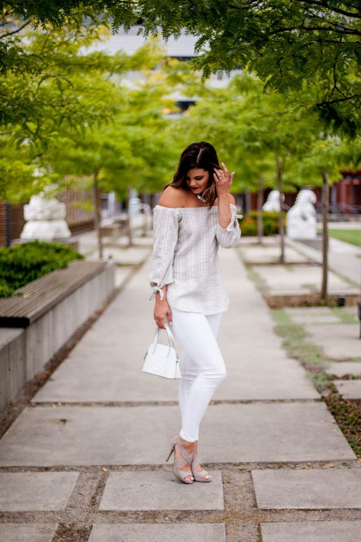 HERboutique.com | Wearing White After Labor Day | White Jeans | Off the Shoulder…