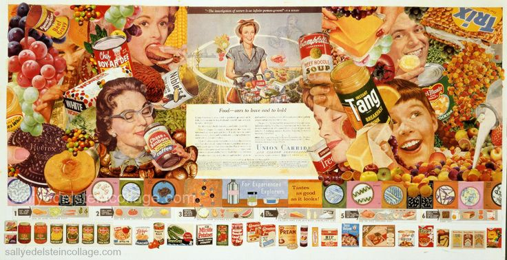 collage Sally Edelstein Appropriated images