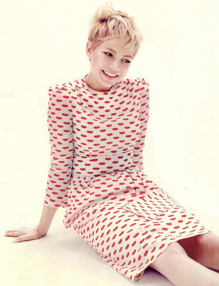 Michelle Williams in a printed dress that inspired our Brighton Rock pagkage. #brightonrock #michellewilliams