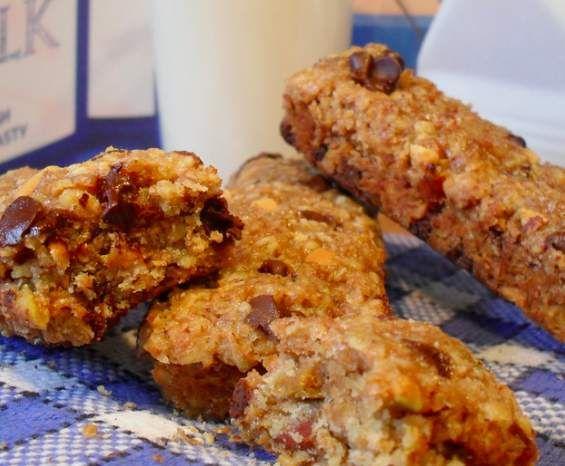 Recette barre de céréales régime chrononutrition par cali83 - recette de la catégorie Pâtisseries sucrées