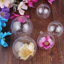 20 Pcs Acrílico Transparente Bola Bola De Plástico Transparente para o Saco de Caixa de Doces de Casamento Favores Do Presente Do Ano Novo Decorações Da Árvore de Natal(China (Mainland))