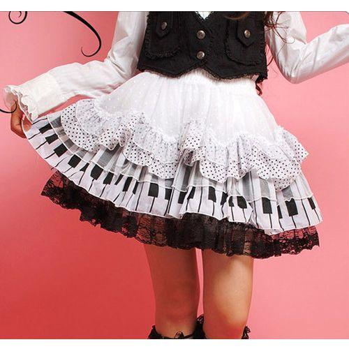 would definitely buy this for a costume! white gothic lolita piano dress tutu micro mini skirt sku-11406026