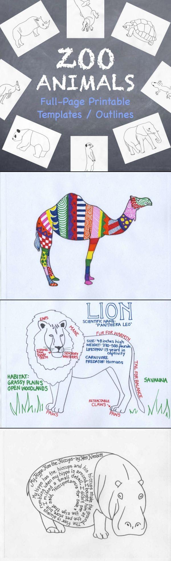 25 best animal templates ideas on pinterest felt templates
