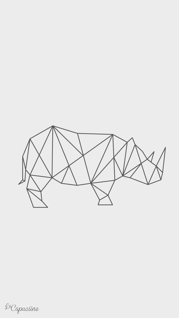 Fond d'écran rhinoceros La Capuciine