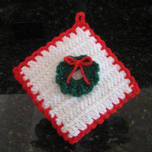 Free Crochet Patterns Christmas Potholders : Christmas Decoration Potholder crafts Pinterest