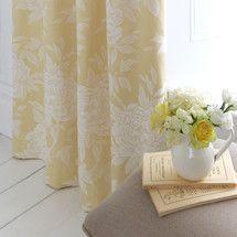 Dorma Lemon Chatsworth Lined Pencil Pleat Curtains | Dunelm
