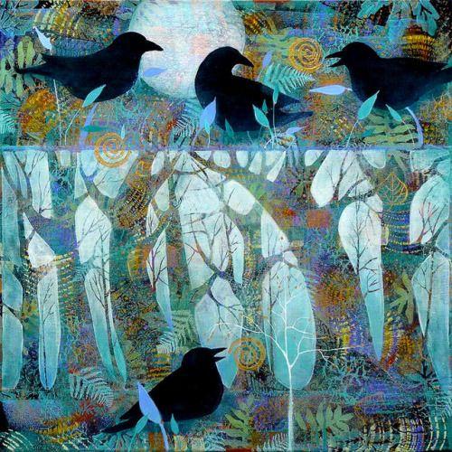 Birds in Forest  by Sue Davis