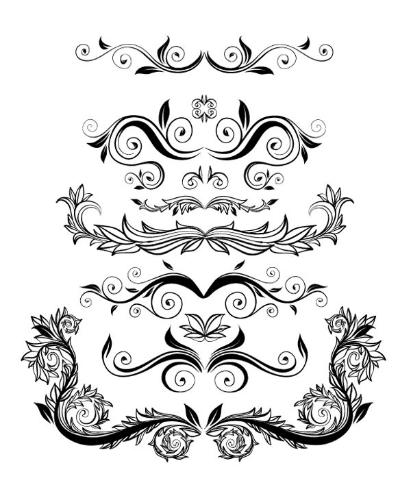 Roundup of Free Vintage Ornament and Floral Vectors