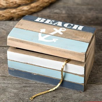 Lovely Anchor Design Hinged Trinket Box Gifts for Nautical Theme Wedding and Party from HotRef.com #anchor #nautical