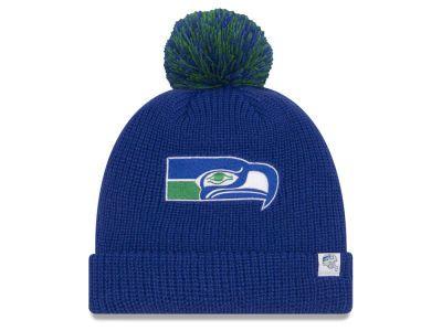 Seattle Seahawks New Era NFL 6 Dart Cuffed Pom Knit