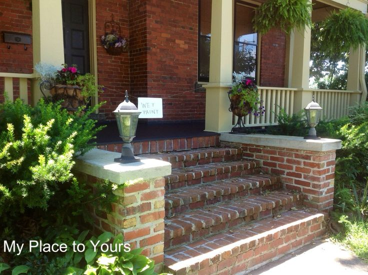 Best 25+ Brick steps ideas that you will like on Pinterest   Porch ...