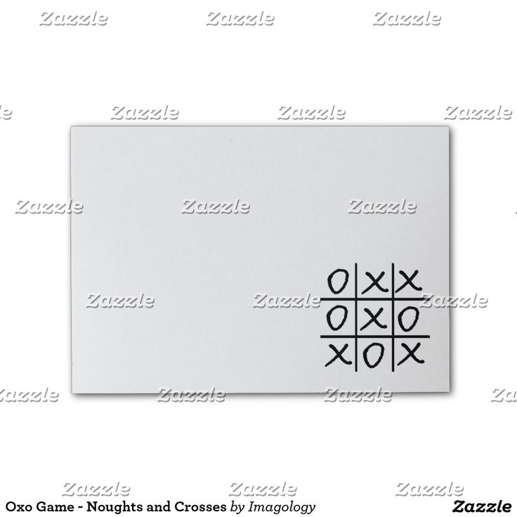 Oxo Game - Noughts and Crosses Post-it® Notes