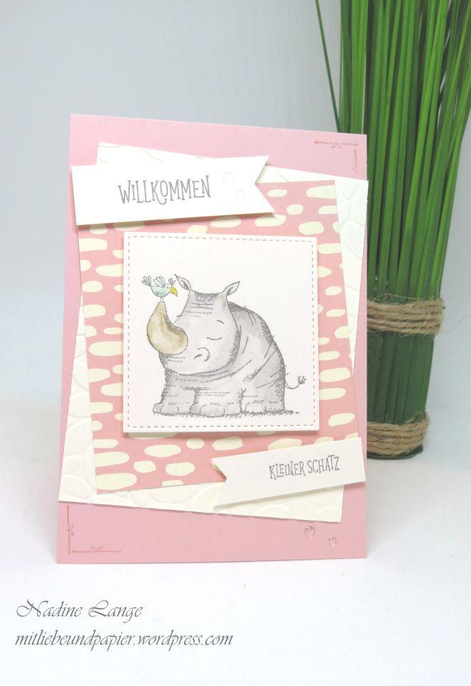 A Rhino for Birth (Stampin 'Up! Wild Greetings) – Stampin' Up – Mit Liebe und Papier