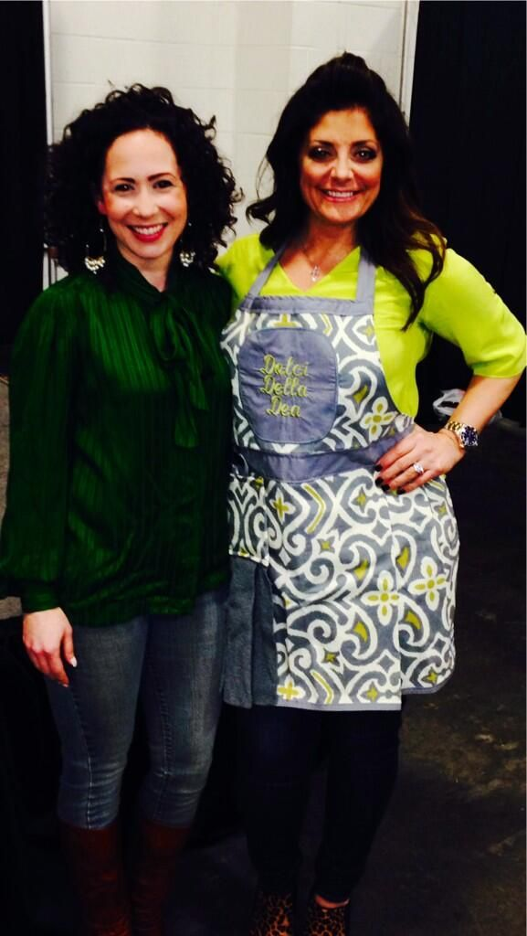 Fantastic woman Mrs. Kathy Wakile, check out her new cookbook Indulge coming in the next few weeks.  Here she is sporting her custom Dolce della Dea apron from www.TheBedfordLife.com
