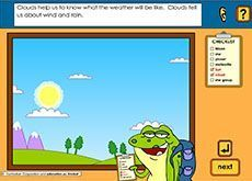 Day sky, night sky [includes spoken instructions] F-2. Students identify objects such as clouds, planets and stars in the sky. They look closely at movements in the sky during the day and at night. This item has spoken instructions.