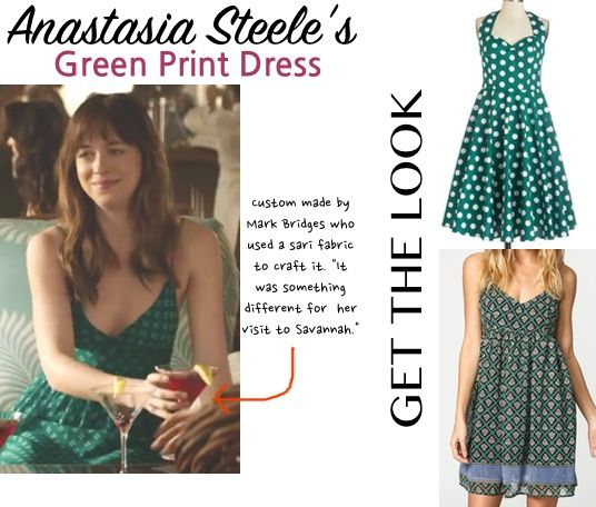 fifty shades anastasia green dress savannah georgia dakota
